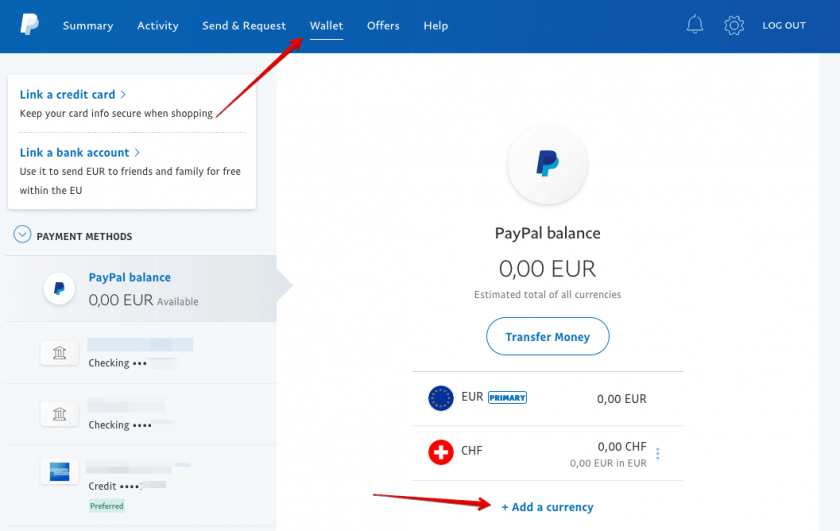 Additional Currency PayPal