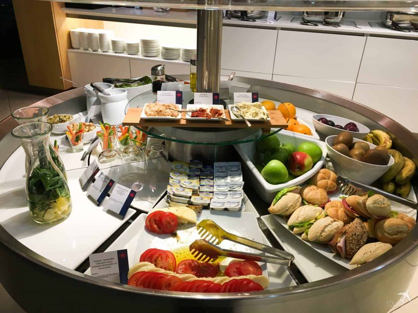 Air Canada Maple Leaf Lounge Frankfurt Buffet