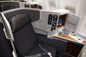 American Airlines Business Class Window Seat