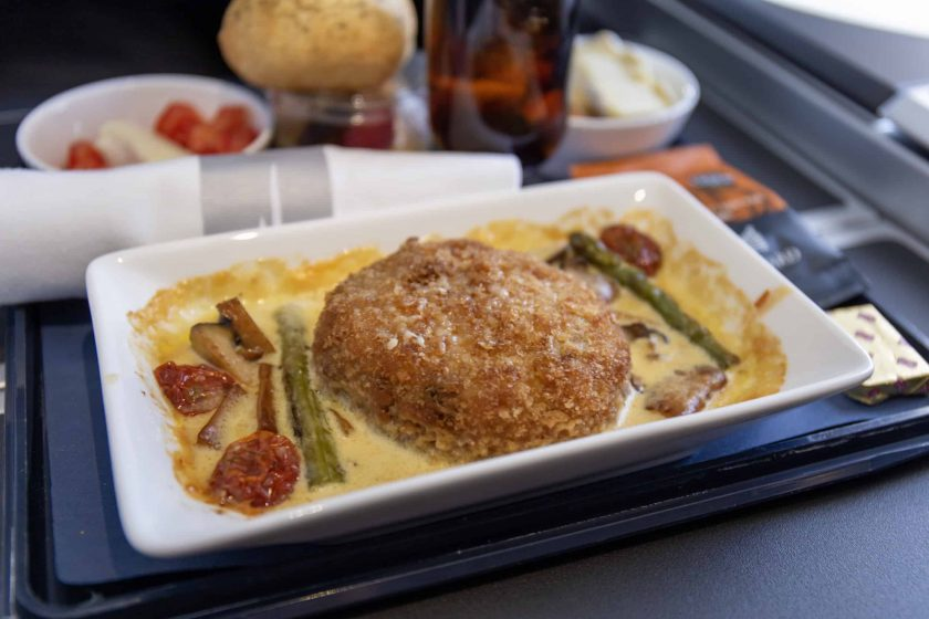 British Airways Club Europe Meal Backed Risotto