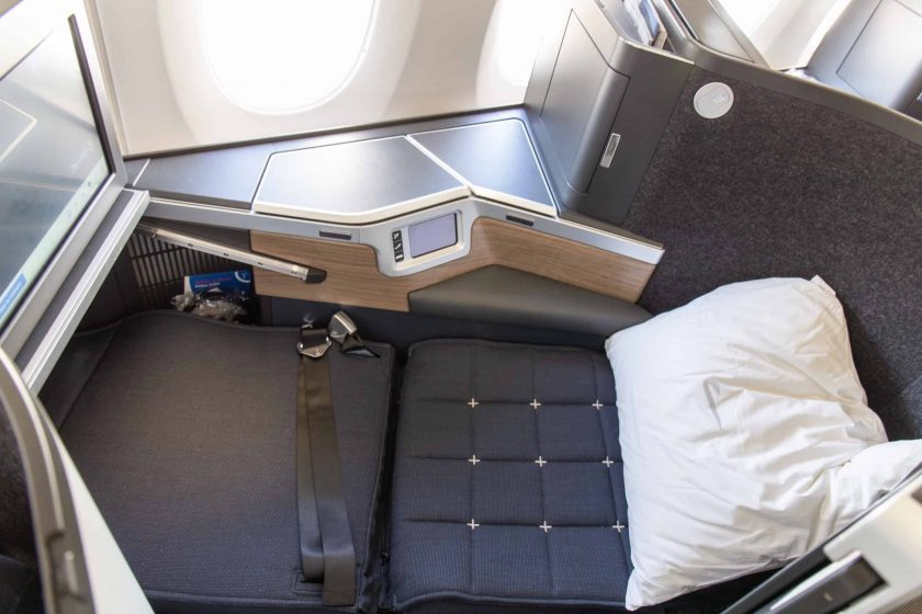 British Airways Club Suite Seat lie flat