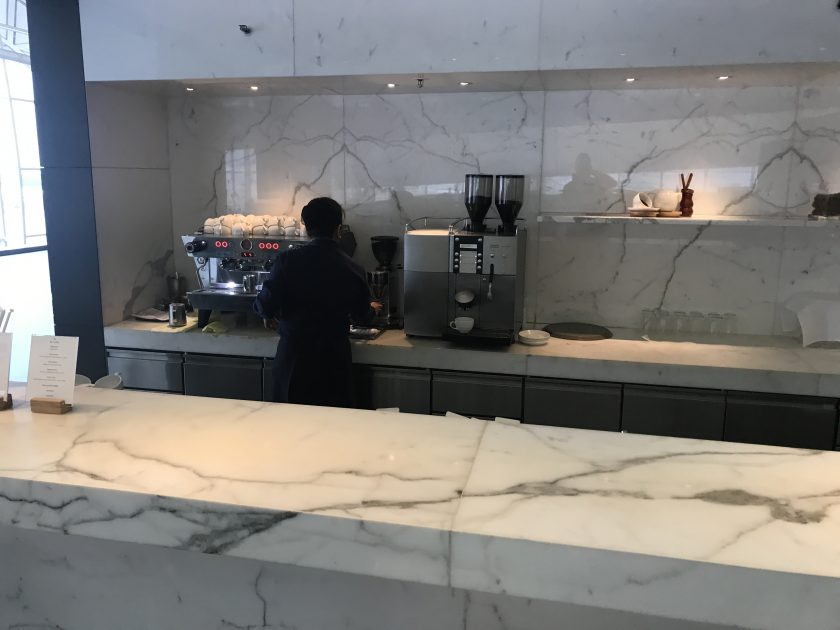Cathay Pacific Business Class Review Lounge The Wing The Coffee Loft