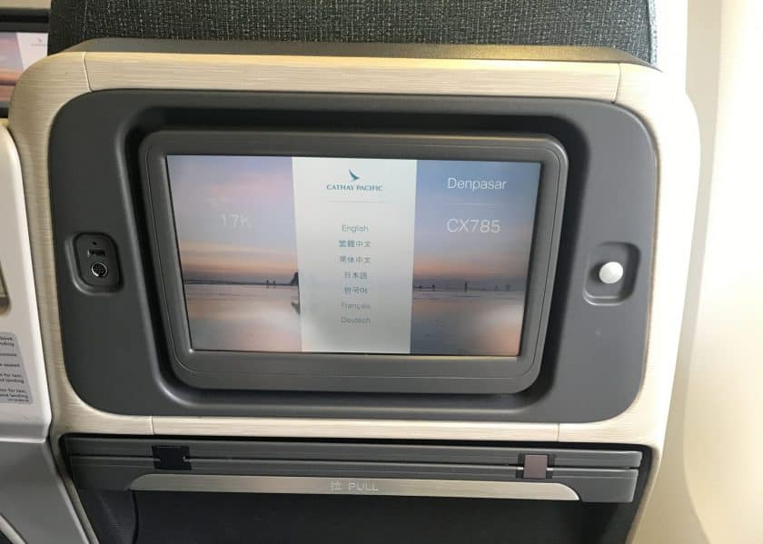 Cathay Pacific Business Class Review Screen