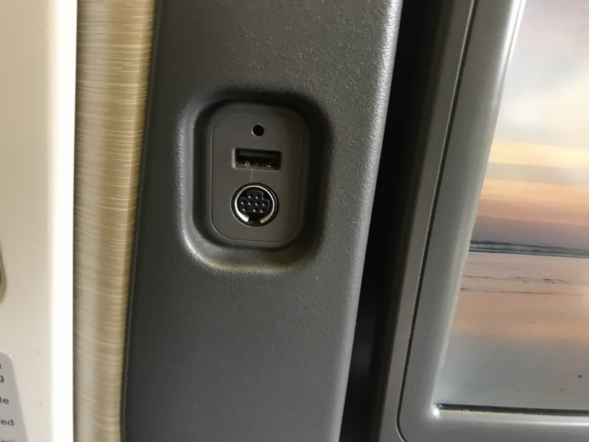 Cathay Pacific Business Class Review Seat Connectors Next to Screen