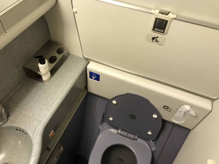Cathay Pacific Business Class Review Toilet 2