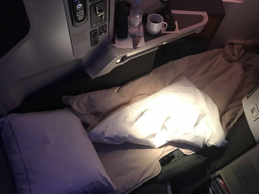 Cathay Pacific Review FRA HKG C Sitz als Bett