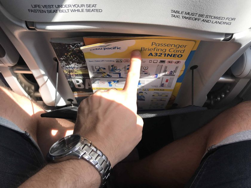 Cebu Pacific Review Seat Pocket