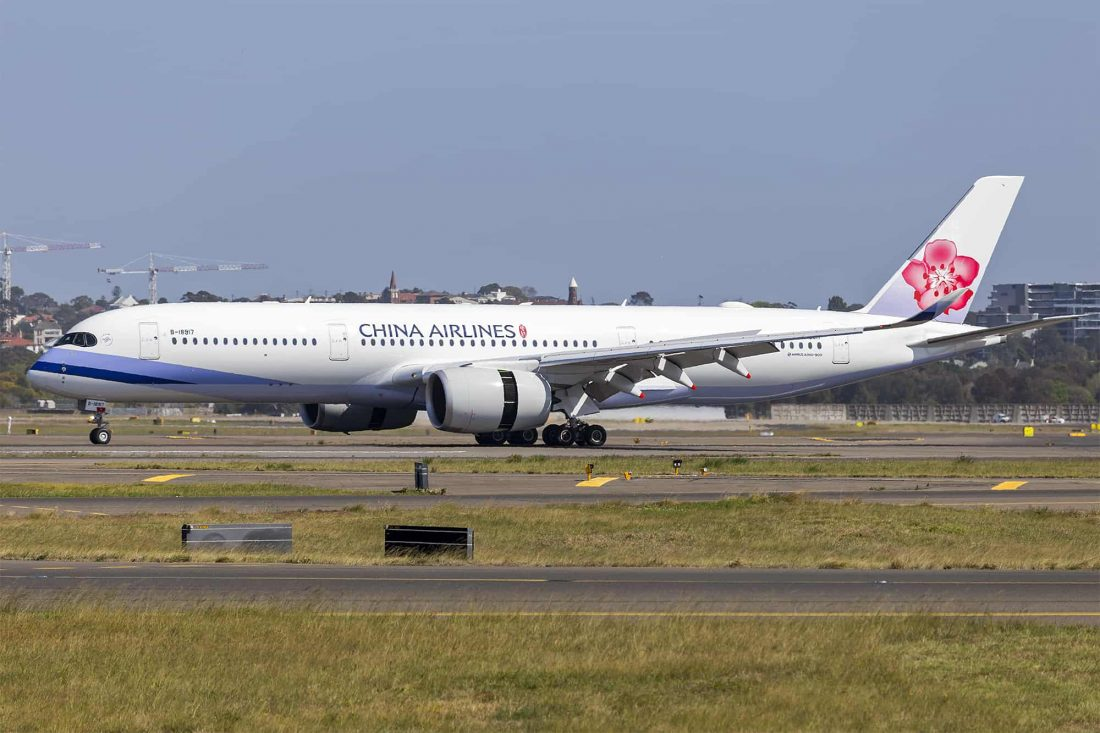 China Airlines (B 18917) Airbus A350 941 at Sydney Airport