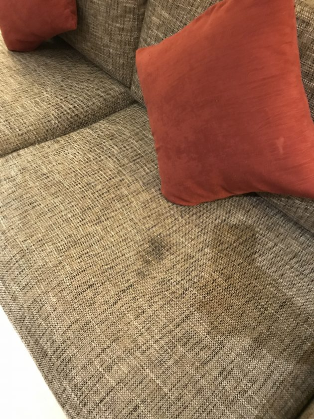 Conrad Bali Review Suite Wear And Tear Sofa 1