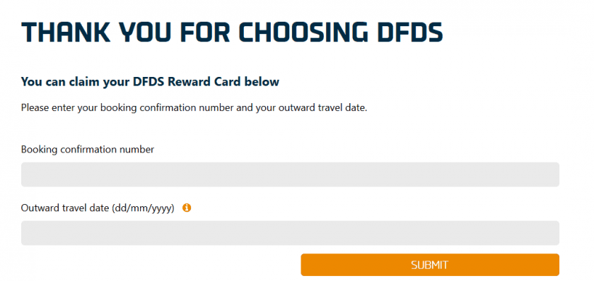DFDS Cashback