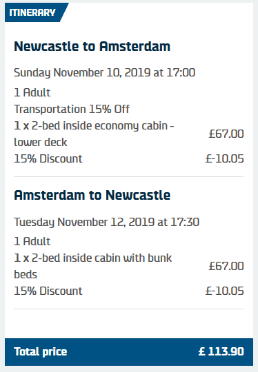 DFDS Seaways Discount Amsterdam