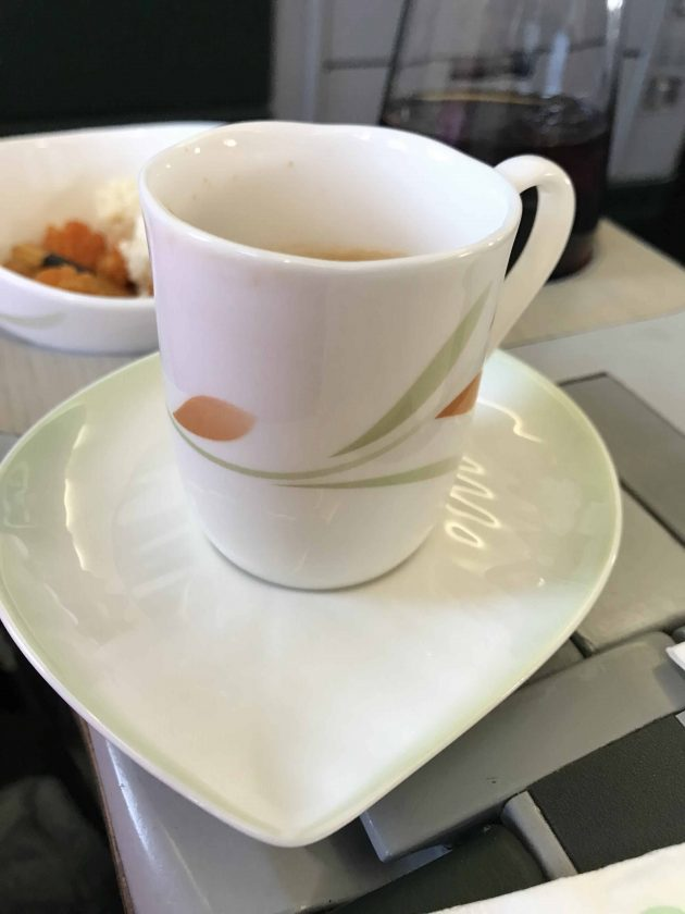EVA Airways Medium Haul Business Class Illy Espresso
