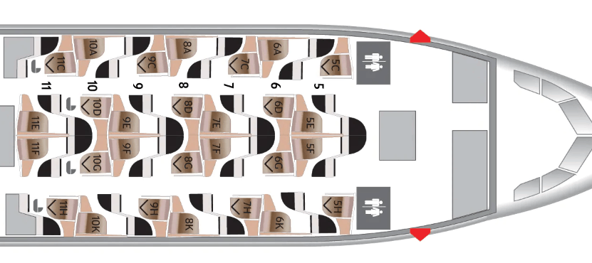 EY 787 business seat map