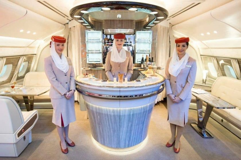 Emirates A380 Bar 2017
