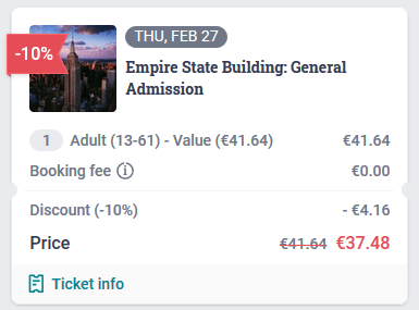 Empire State Building Tiqets Discount