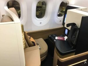 Etihad Airways Business Class Boeing 787