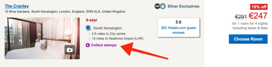 Hotels.com Search Stamp