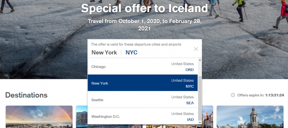 Iceland Air Select City