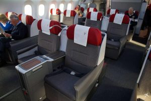LATAM Boeing 787 Business Class cabin