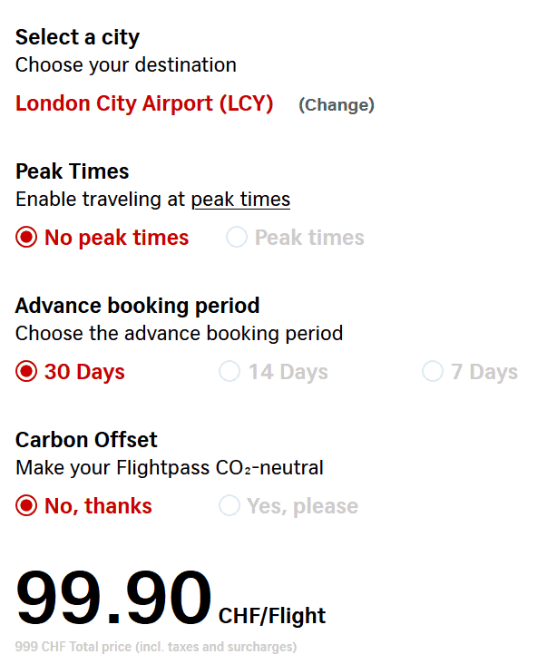 LCY Pass Cheapest