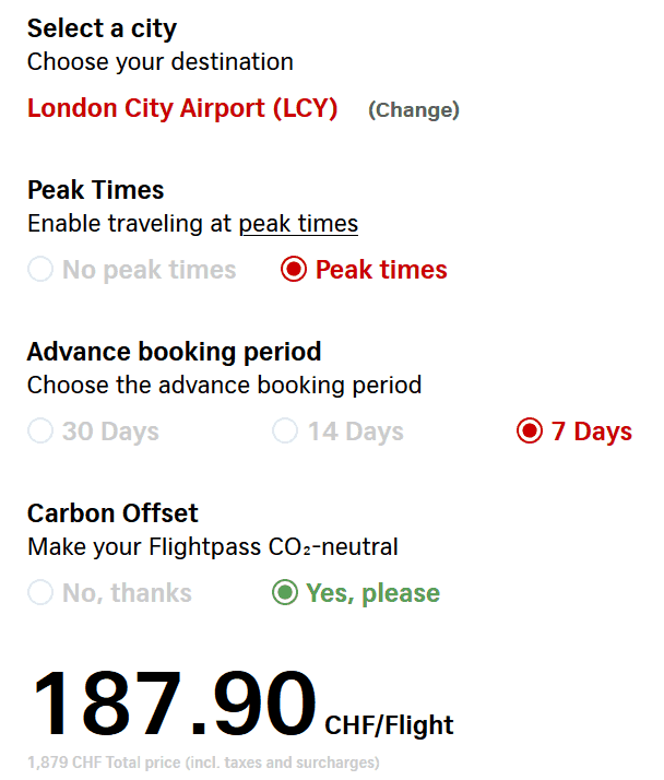 LCY Pass Expensive