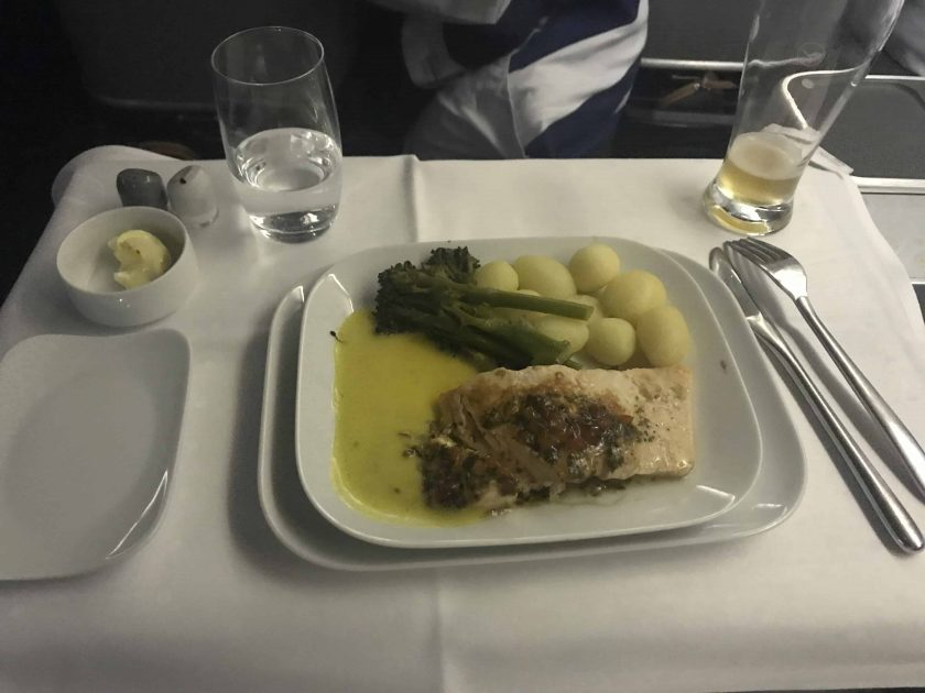 Lufthansa Business Class Food Main Meal