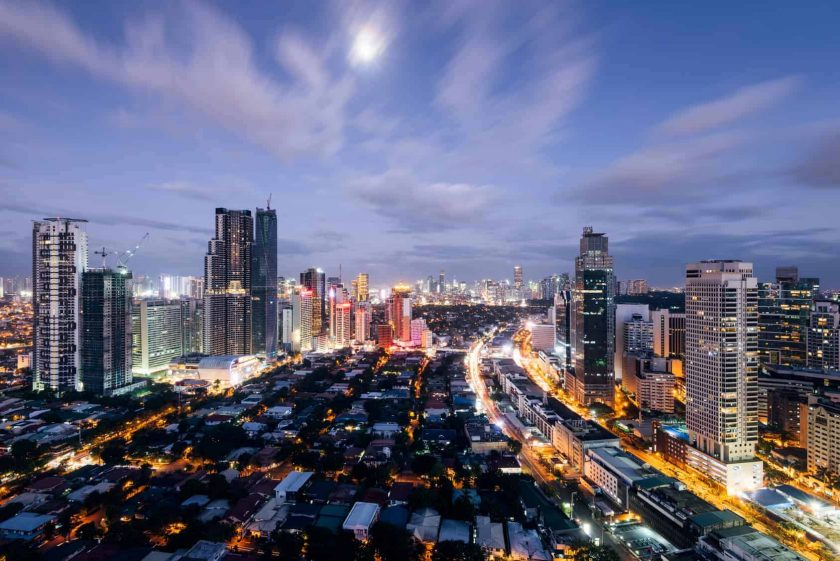Manila at night