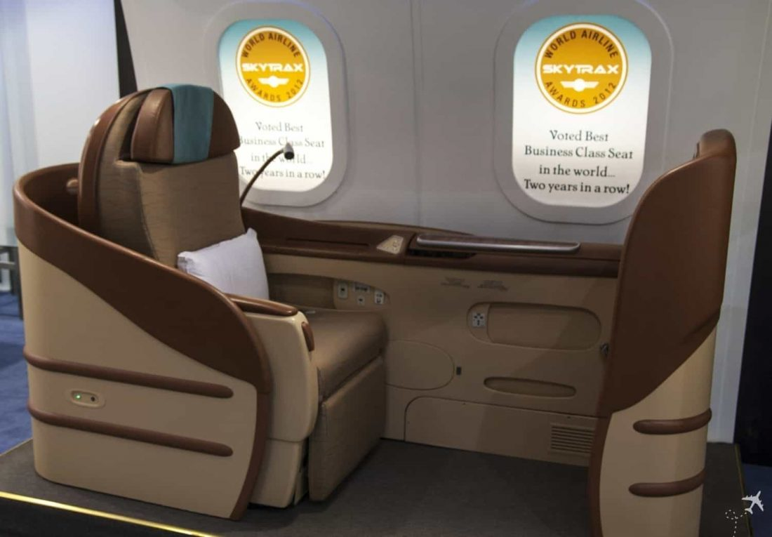 Oman Air Business Class Seat