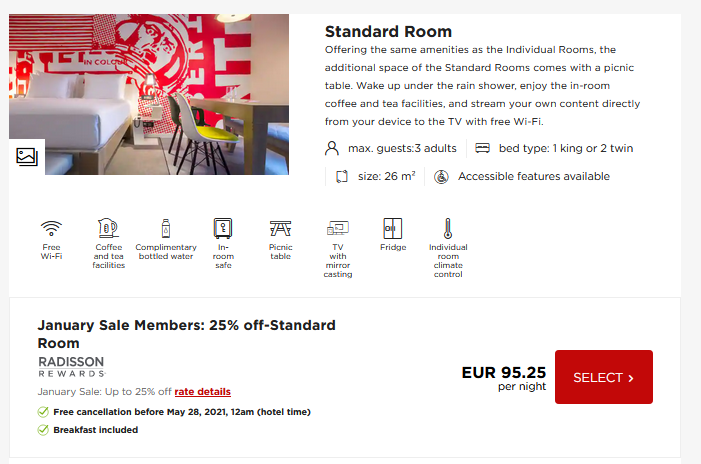 Park Inn Vienna January Sale