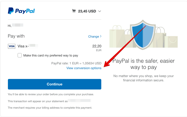 PayPal Checkout Review your payment 2019 11 26 11 29 42