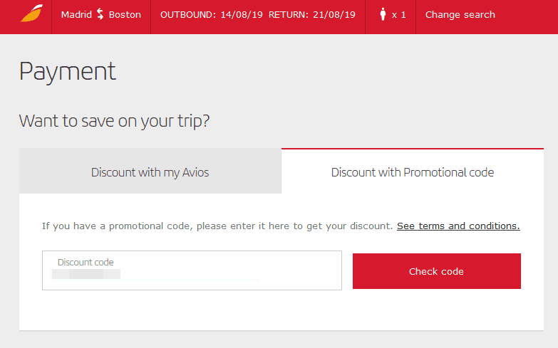Redeem Iberia Coupon III