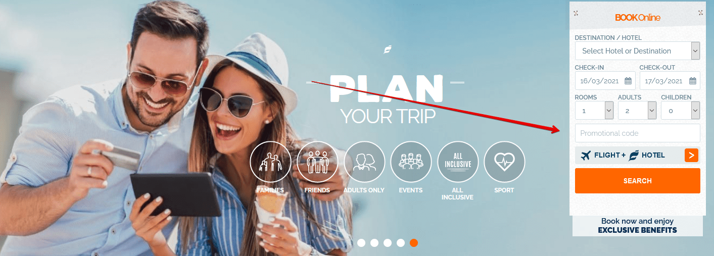 Redeem THB Hotels Coupon