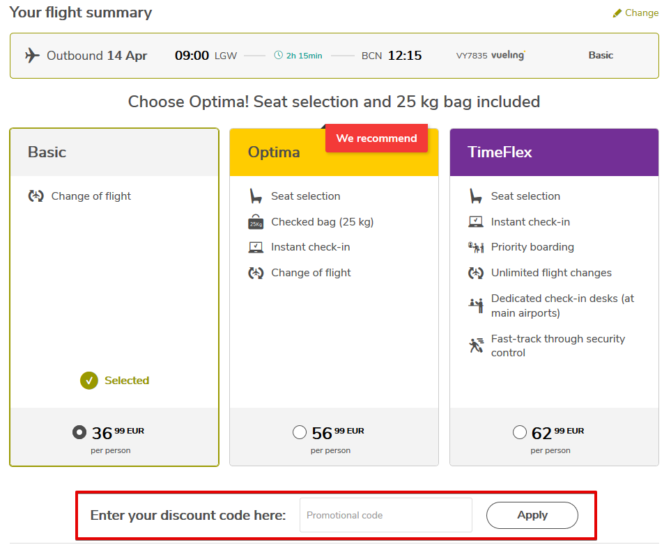 Redeem Vueling Coupon