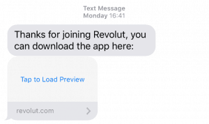 Revolut App Download Text