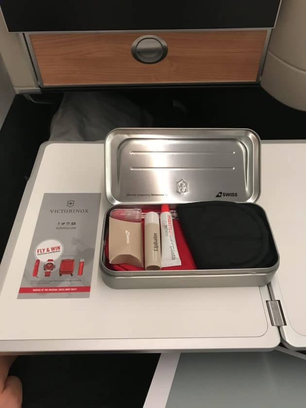 SWISS Business Class Review Amenity Kit 2