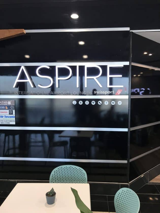 SWISS Business Class Review Aspire Lounge 1