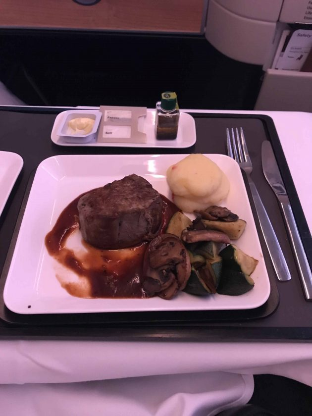 SWISS Business Class Review Food Main