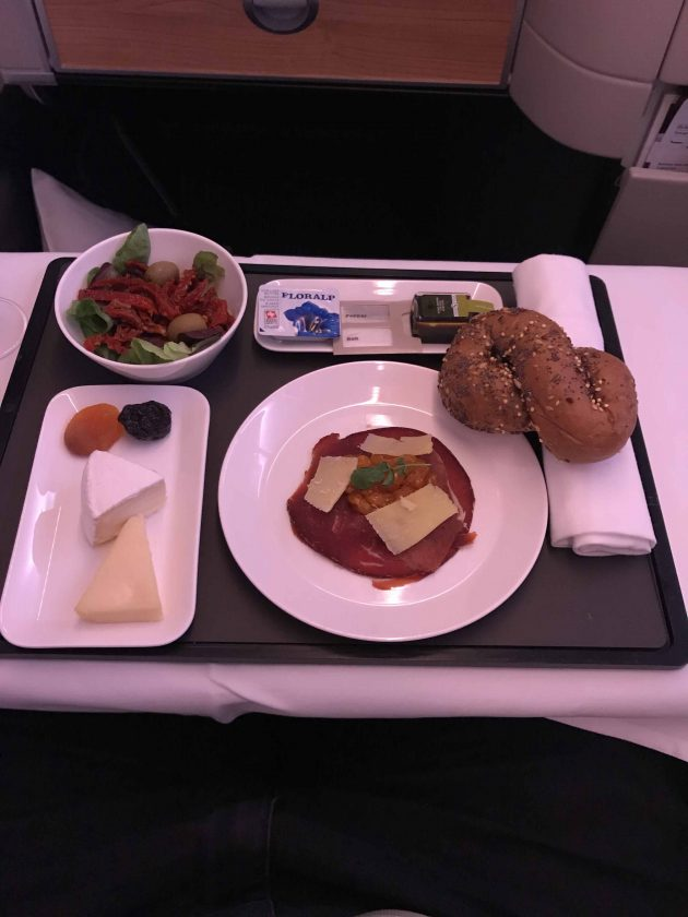 SWISS Business Class Review Food Starter Cheese