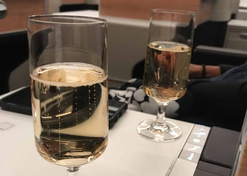 SWISS Business Class Review Welcome Drink