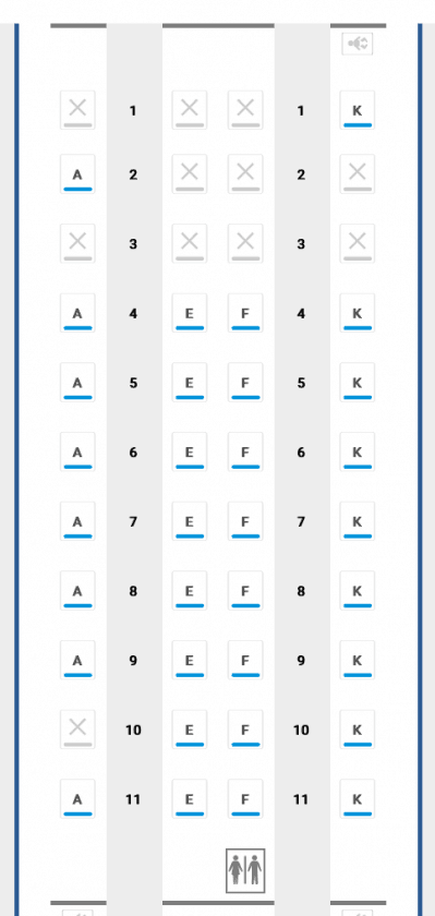 Seatmap BA Business A350