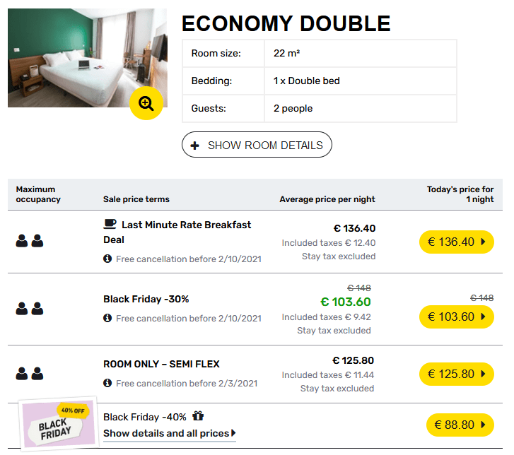 Student Hotel Black Friday Discount 40