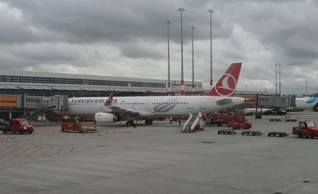 Turkish Airlines am Gate
