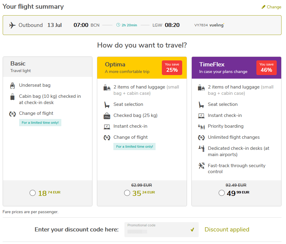 Vueling Black Week Coupon