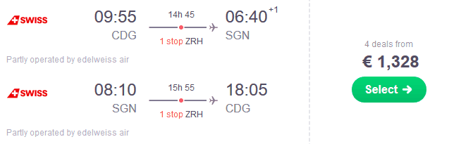 WK CDG SGN €1328