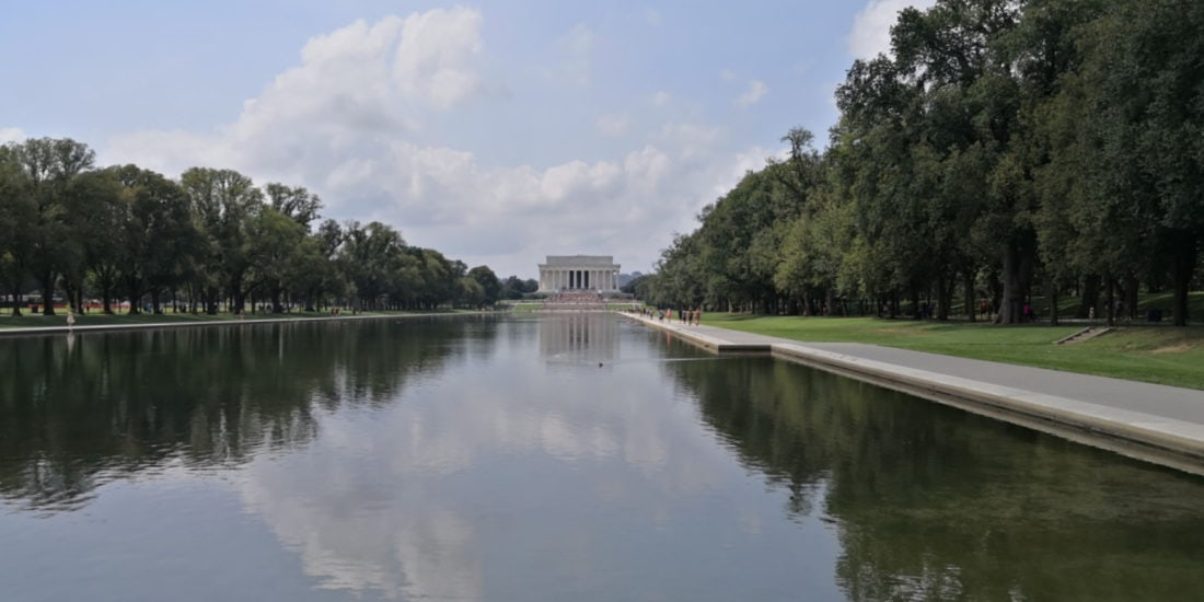 Washington DC Lincoln Memorial Water