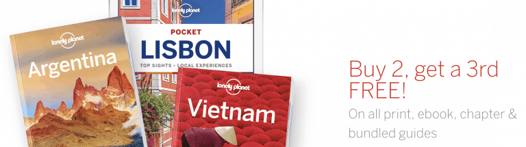 lonely planet buy 2 get 3 offer may19