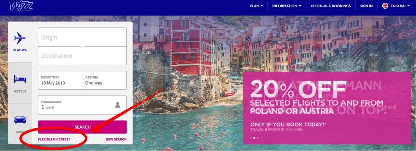 wizz air landing page