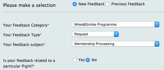 Miles&Smiles Contact Form