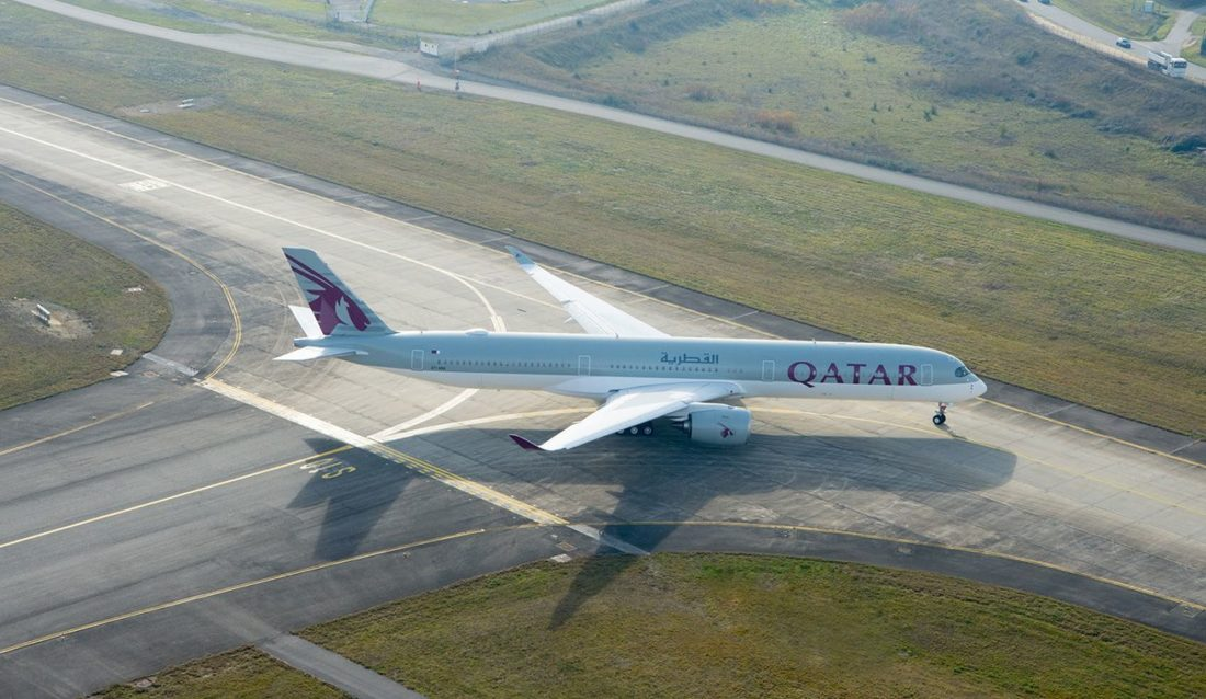 qatar a350 1000 ground
