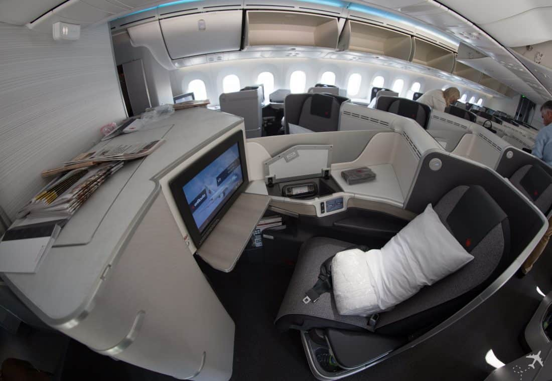 Air Canada Boeing 787-9 Business Class Sitz Mitte